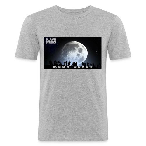 Moon beach - Maglietta aderente da uomo
