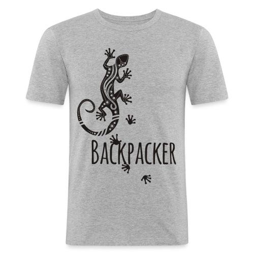 Backpacker - Running Ethno Gecko 1 - Männer Slim Fit T-Shirt