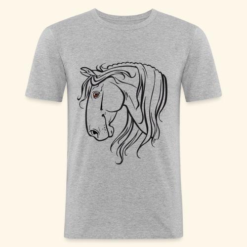 Cheval espagnol (noir) - T-shirt près du corps Homme