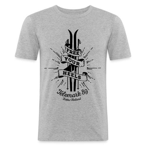 FreeYourHeels_merge - Miesten tyköistuva t-paita