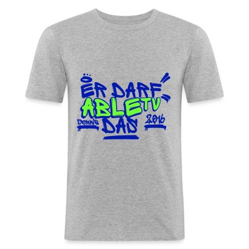 AbleTV Grafitti Logo Marken Shirt (Er Darf Das) - Männer Slim Fit T-Shirt