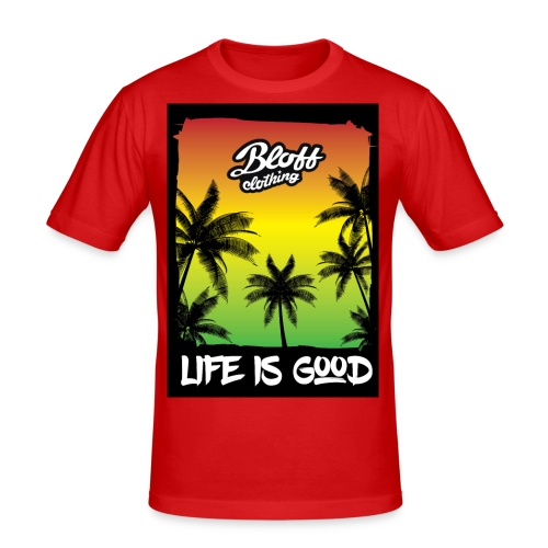life is good - Camiseta ajustada hombre
