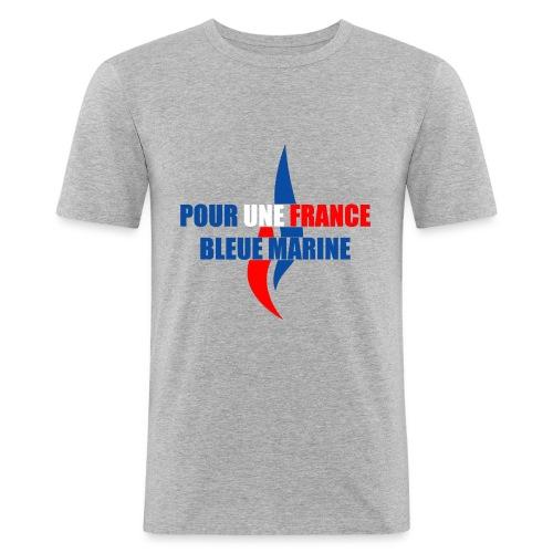 Pour une France Bleue Marine - T-shirt près du corps Homme