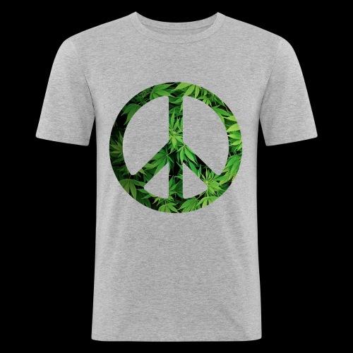 Cannapeace - Men's Slim Fit T-Shirt