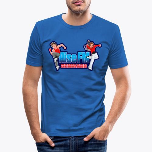 Rise FM Logo - Men's Slim Fit T-Shirt