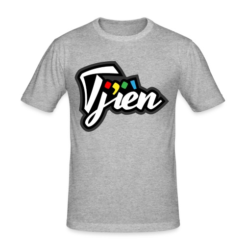 Tjien Logo Design - Mannen slim fit T-shirt