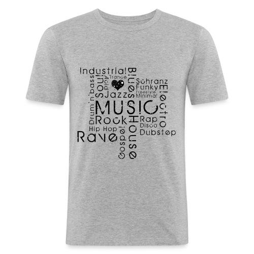 Music addicted - Männer Slim Fit T-Shirt