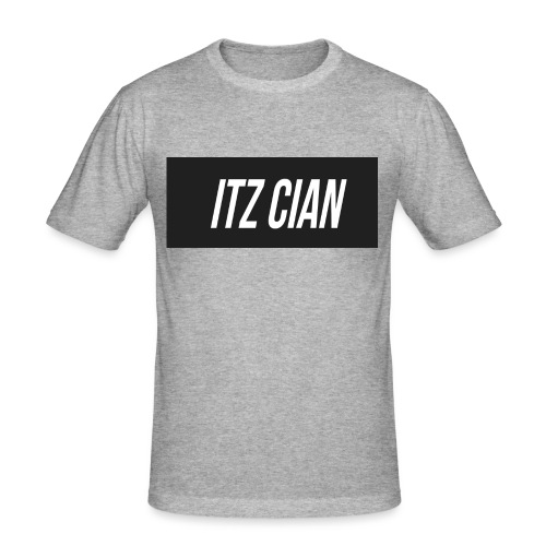 ITZ CIAN RECTANGLE - Men's Slim Fit T-Shirt