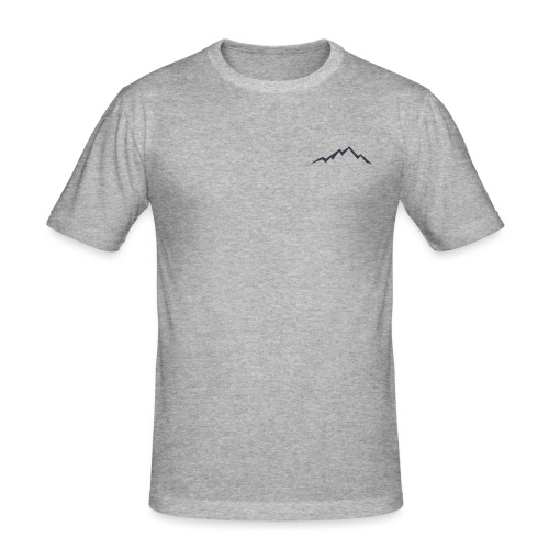 swiss alps clipart sihllouette ski mountains - Mannen slim fit T-shirt