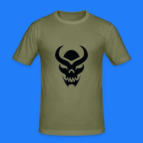 TRIBAL SKULL NOIR - T-shirt près du corps Homme