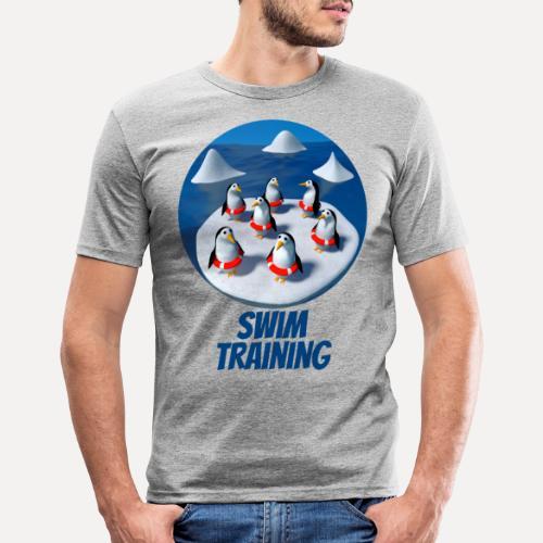 Pinguine beim Schwimmunterricht - Men's Slim Fit T-Shirt