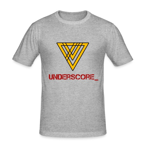 Underscore Yellow Red - Men's Slim Fit T-Shirt