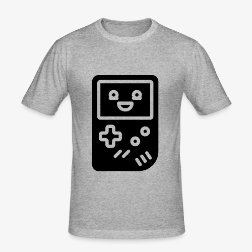 Smiling game console (black, inverted) - Men's Slim Fit T-Shirt
