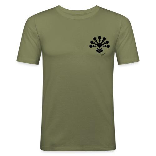 The Smoking Alien Black - Men's Slim Fit T-Shirt