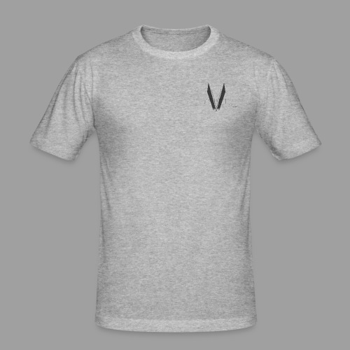 V shaped apparel with logo png - Men's Slim Fit T-Shirt
