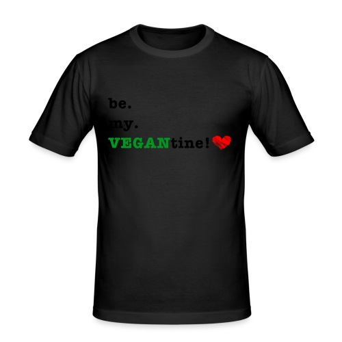 VEGANtine Green - Men's Slim Fit T-Shirt