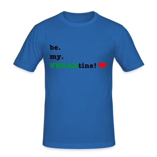 VEGANtine Green - Men's Slim Fit T-Shirt