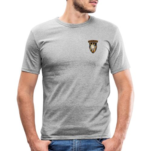 Tiger Patch and Tiger Shield - Men's Slim Fit T-Shirt