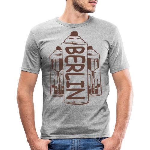 Berlin Power - Männer Slim Fit T-Shirt