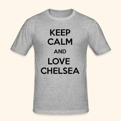 keep calm and love chelsea - Men's Slim Fit T-Shirt