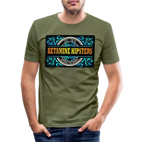 Black Vintage - KETAMINE HIPSTERS Apparel - Men's Slim Fit T-Shirt