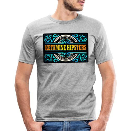 Black Vintage - KETAMINE HIPSTERS Apparel - Men's Slim Fit T-Shirt