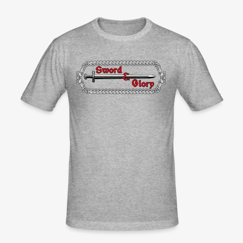 Sword & Glory Logo - Men's Slim Fit T-Shirt