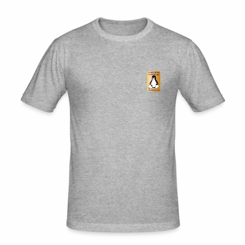 GNU/Linux Powered by FermoLUG - Maglietta aderente da uomo