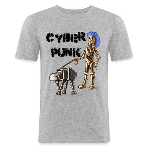 cyberpunk - Maglietta aderente da uomo