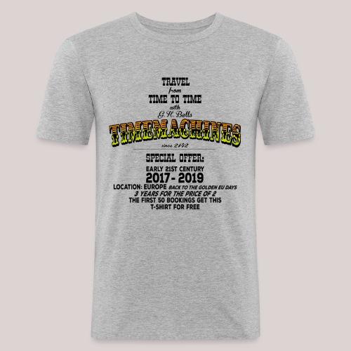 Timemachine Promoshirt for Bright Shirt EU Edition - Männer Slim Fit T-Shirt