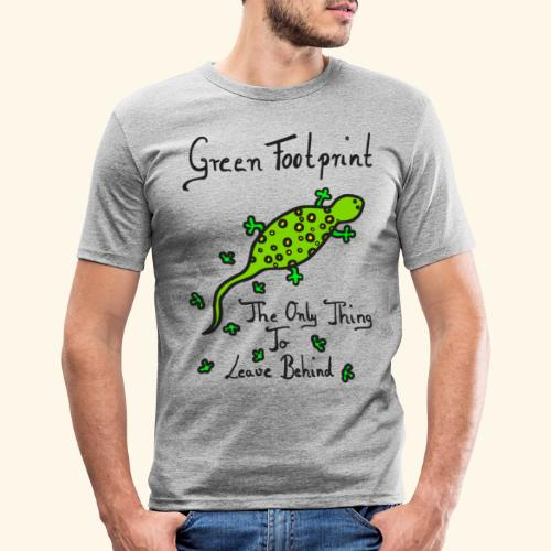 Gecko Green Footprint - Männer Slim Fit T-Shirt