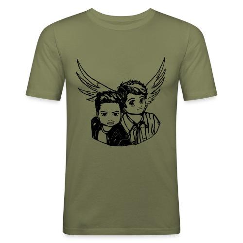 Destiel (Silhuet) - Herre Slim Fit T-Shirt