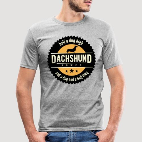 Dachshund Power - Mannen slim fit T-shirt