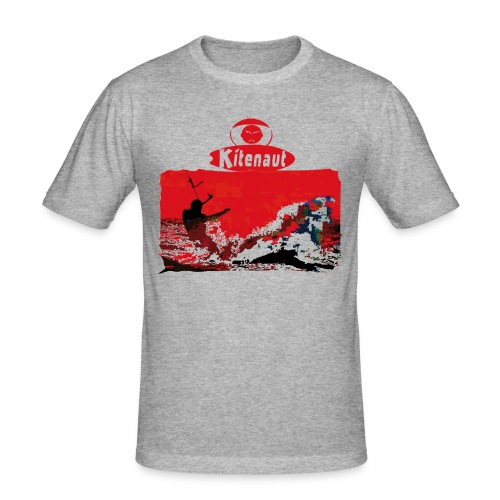 vague rouge gif - T-shirt près du corps Homme