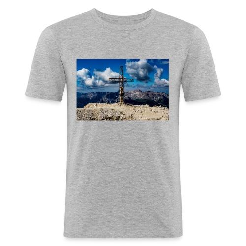 Gipfelkreuz - Männer Slim Fit T-Shirt
