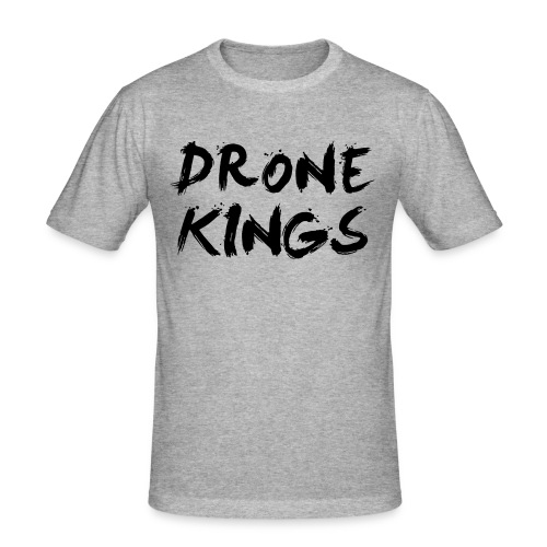 dronekings-blacktext-outlines - Slim Fit T-shirt herr