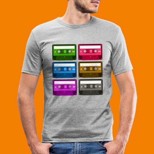 Kassetter - Slim Fit T-shirt herr