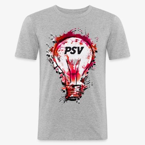 light bulb psv - Mannen slim fit T-shirt