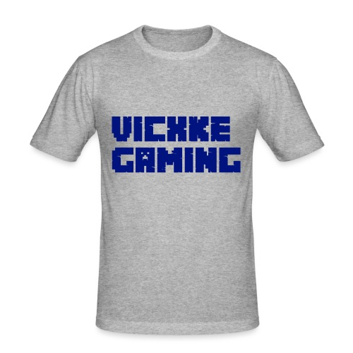 Vicxke_Gaming_site1 - Mannen slim fit T-shirt