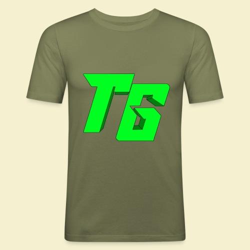 TristanGames logo merchandise [GROOT LOGO] - Mannen slim fit T-shirt