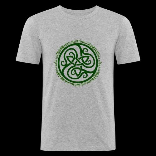 Green Celtic Triknot - Men's Slim Fit T-Shirt