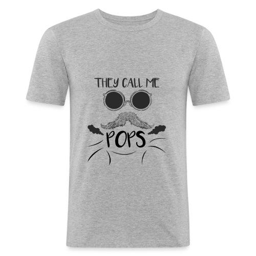they call me pops t-shirt pour homme - T-shirt près du corps Homme
