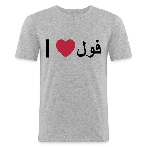 I heart Fool - Men's Slim Fit T-Shirt