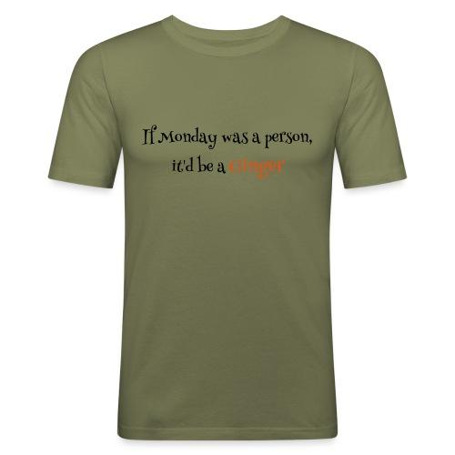 ginger1 - Miesten tyköistuva t-paita