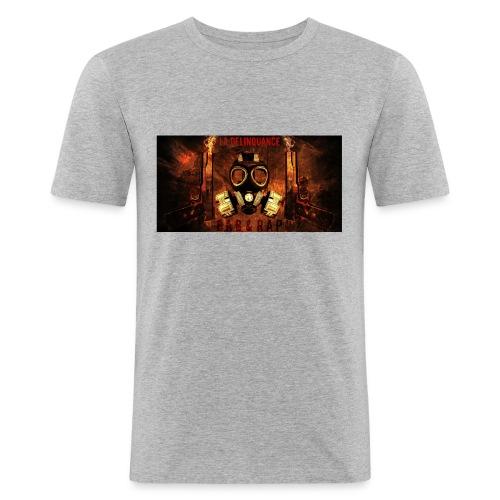 La Delinquance  Gun Masque A Gaz  Fond Flamme - T-shirt près du corps Homme