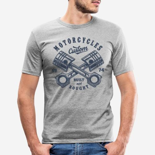Motorrad benutzerdefinierte Vintage Biker - Männer Slim Fit T-Shirt