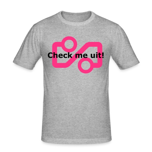 Check me Uit! - Men's Slim Fit T-Shirt