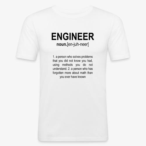 Engineer Def. 2 Black - T-shirt près du corps Homme