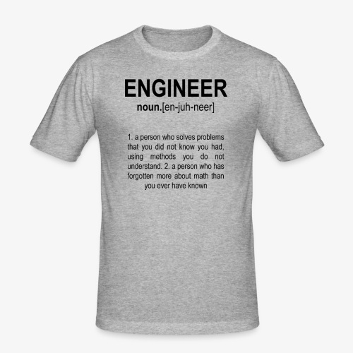 Engineer Def. 2 Black - T-shirt près du corps Homme
