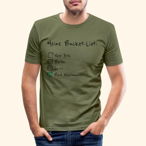 Ich war noch niemals in New York...aber in B.O. - Männer Slim Fit T-Shirt